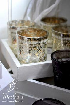 Teelichter aus Bauernsilber für stimmungsvolle Dekoration blog.martha-.de; #huebschinterior, #marthas,