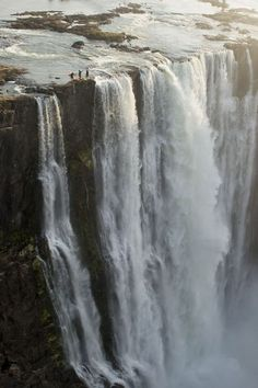 Kayak paddling. Steve Fisher, 37, Dale Jardine, 33, both from South Africa, and Sam Drevo, 33, from the U.S., paddled up to the lip of the mile-wide Victoria Falls, the largest waterfall in the world, in Zimbawe, Africa