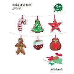 Buy John Lewis Make Your Own Christmas Garland Online at johnlewis.com £6.50
