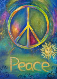 ACEO Print  Peace Sign by AngiesGallery on Etsy