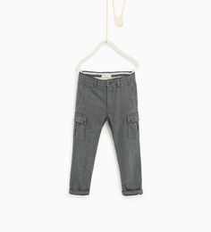 Zara Boys Textured weave trousers