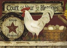 Rooster Kitchen Cast Iron Hanging Wall Clock French