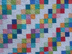 Busy Hands Quilts: 30s Barn Raising Lap Quilt