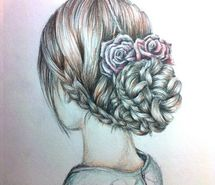 Inspiring image drawing, draw, drawings, hair draw, dessin, hair, beauty, hairstyle #1913472 by patrisha - Resolution 484x458px - Find the image to your taste