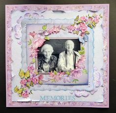 Karen Foy - layout using Sara Davies Signature Collection - Butterfly Lullaby