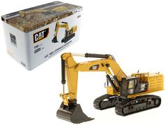 Caterpillar 390F LME Hydraulic Tracked Excavator High Line Series with Operator 1/50 Diecast Model by Diecast Masters