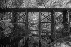 The old train tracks in Calico Rock, AR
