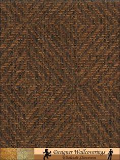 Pattern: GRS-1117 | Name: TRibal Diamond Grasscloth Wallpaper | Category: Casa Naturale 2 (Jan/2011) | DesignerWallcoverings.com  Specialty Wallpaper & Designer Wallcoverings for Home and Office.