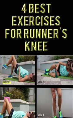 These exercises are great for pre-hab and re-hab by strengthening many common weakness of runners. #running #exercises #runningtips #knees