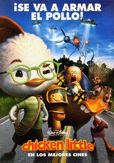 Watch->> Chicken Little 2005 Full - Movie Online Childhood Movies, Kid Movies, Cartoon Movies, Movie Tv, Children Movies, Disney Pixar, Disney Films, Chicken Little Disney, Animated Movie Posters