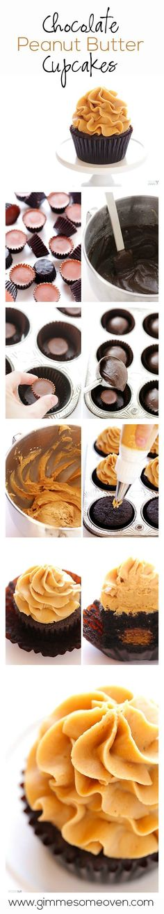 chocolate peanut butter cupcakes | by far the best cupcake recipe although I added some