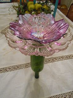 in pursuit of...vintage glass flowers