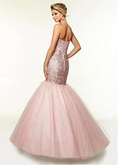 Chic Sequin Lace & Tulle Sweetheart Neckline Floor-length Mermaid Prom Dress