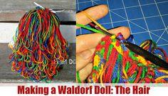 DIY | (Waldorf) Doll hair (Loop Crochet) | Classic Sami Doll Pattern | P...