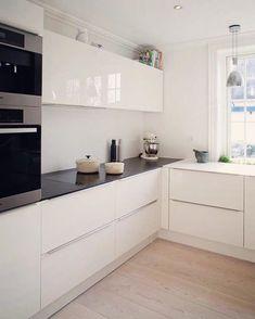 Ikea Kitchen White Modern look we love: contrast in the kitchen | kitchen modern, shaker