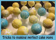Cake Pops   Great Tips Here.