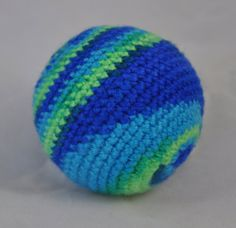 Beach Hand Crochet Dog Toy Puppy Dog Toy Ball by jenniespetcorner, $6.00