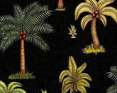 Palm tree fabric, Quilting fabric, cotton fabric, quilting treasures, tropical fabric, tree fabric, fabric by the metre, exotic fabric