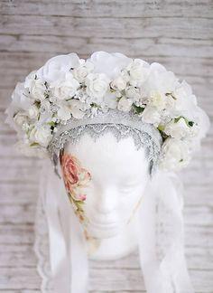 Sohemi_art / Svadobná parta Ľadová kráľovná Folklore, Vence, Crowns, Times, Art, Fashion, Ethnic Dress, Art Background, Moda