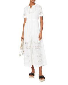LOVESHACKFANCY Edie Button-Down Maxi Dress
