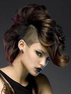 Faux hawk- shaved sides..... aggressive