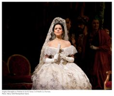 Angela Gheorghiu as Violetta in Verdi's La Traviata. ✿⊱╮