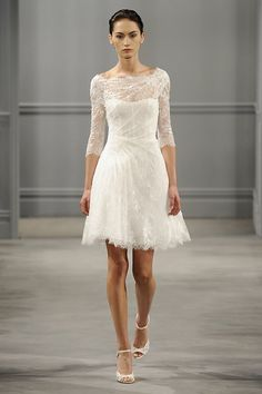 wedding dress but cute...short enough to wear for something else.