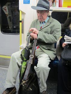 John Betjeman lookalike I spotted on the Northern Line
