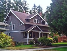 Gray & white Craftsman house, Tacoma, Washington. From Tacoma, I best remember the wonderful, older neighborhoods.