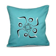 E by Design Psychedelic 70's Inside Out Designs Print 20 x 20-inch Pillow