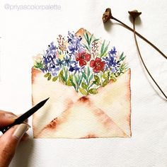 ・・・ A quick loose illustration inspired by my walk through Barrio Gòtico yesterday. I walked into this cute… Pen And Watercolor, Watercolor Illustration, Watercolor Flowers, Watercolor Paintings, Watercolors, Art Impressions, Painting & Drawing, Flower Art, Art Drawings