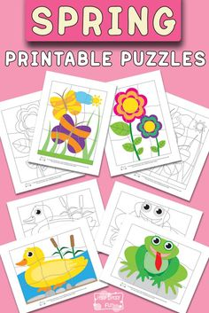 Spring Printable Puzzles for Kids