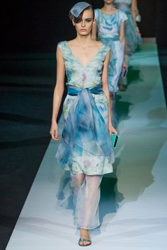 Like a beautiful watercolor! Giorgio Armani Spring 2013