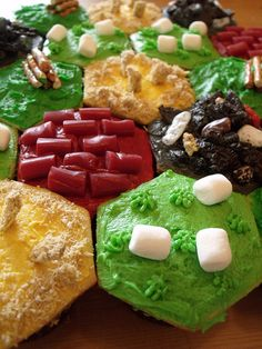 Catan Cupcakes with recipe by C Cakery, via Flickr