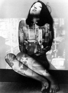 Emiko Iwasaki in Nagisa Oshima's The Man Who Left His Will on Film (1970)