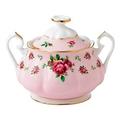 New Country Roses Pink vintage sugar bowl from the Royal Albert collection. Fine bone china sugar bowl featuring an elegant rose print on a pink background and… Royal Albert, Roses Pink, Sugar Jar, Sugar Bowls, Pink Sugar, Wedgwood, Vintage China, Bone China, Tea Cups