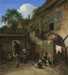 Adriaen van Ostade - The Cottage Dooryard