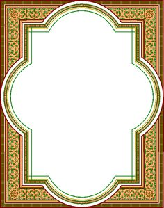 Islamic Motifs, Islamic Art Pattern, Pattern Art, Vintage Diy, Calligraphy Borders, Project Life, Frame Border Design, Picture Frame Decor, Best Background Images