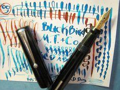 Mabie Todd Blackbird Flex 14k Nib Black Celluloid Fountain Pen Flexible vtg Swan…