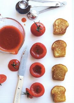 Mini grilled cheese and tomato soup. (Peter Callahan, Photo: Con Poulos)