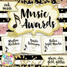 Music Awards {Chic & Glam, Editable, Ink-Saver} These glamorous music award certificates are the perfect way to recognize your music students for their hard work and dedication to music! Classroom Rules Poster, Music Classroom, Music Teachers, Classroom Setup, Classroom Resources, Piano Lessons, Music Lessons, Piano Recital, Music Crafts