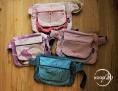 Vatanai wrap scrap hip bag made by kodoBa #Vatanai #KodoBa #Hipbag #bluecalla #wrapscrap