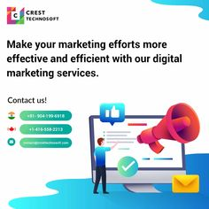 Crest Technosoft is a best Digital Marketing Company located in Toronto. We offer SEO, SMO, PPC, ORM , SMM, and Google Analytic services to make your business rank on top of SERP's. Best Digital Marketing Company, Digital Marketing Services, Social Media Marketing, Effort, Seo, Toronto, Business, Google, How To Make