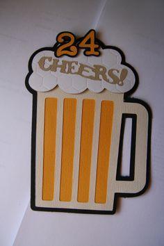 Male birthday card beer stein using Cricut Everyday Pop Ups cartridge