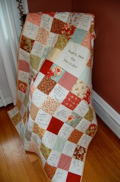 Custom Made Signature Quilt Wedding Baby by chimeracustomquilts, $259.00