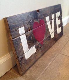 LOVE Wood Wall Art