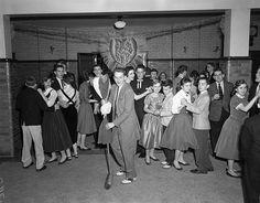 School Valentine dance  1956