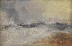 Joseph Mallord William Turner 'Waves Breaking against the Wind', c.1840