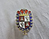 Sterling Enamel Brooch St Augustine FL Souvenir Edwardian