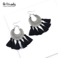 Artilady fashion boho tassel earring vintage bohemia women jewelry new year gift